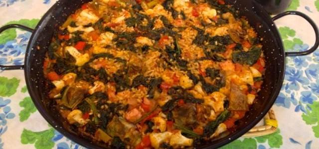 Recetas de arroz con verduras y magro paella alifornia for Como hacer paella de verduras