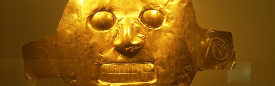Pieza de oro Inca museo del oro Bogotá