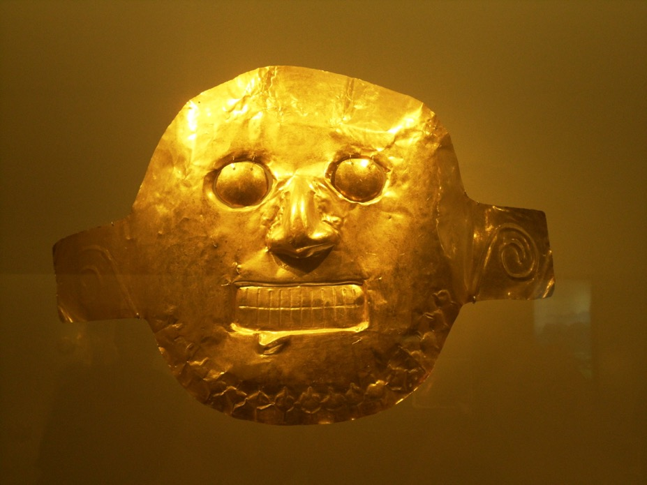 Gold mask from the Inca's Empire