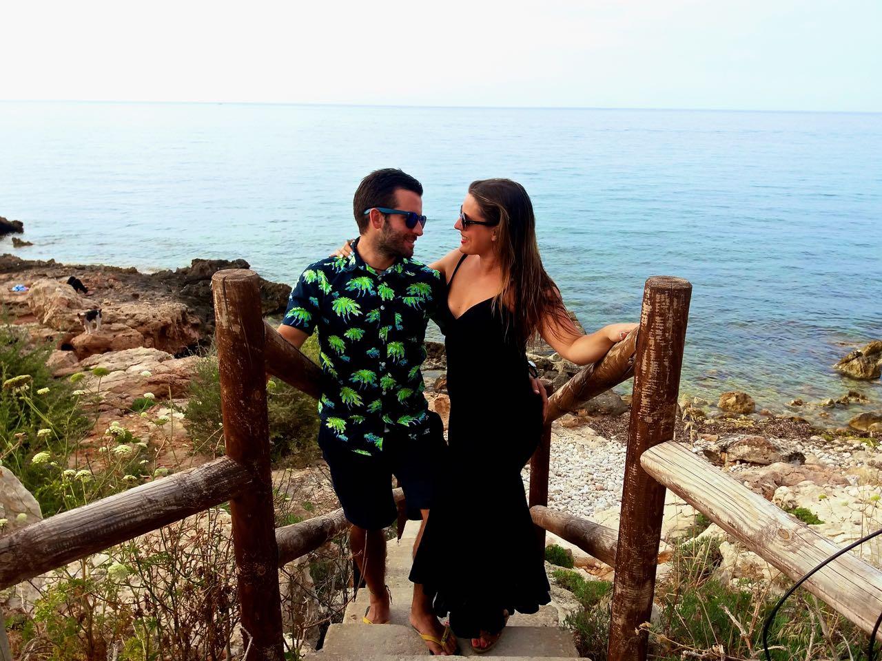 Momento romantico (postureo) en Denia :D