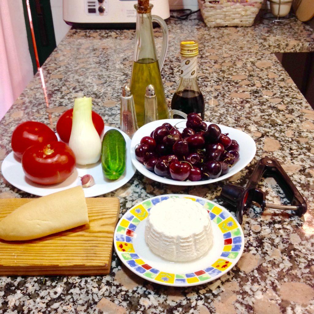 Gazpacho de cerezas de Alicante gourmet.