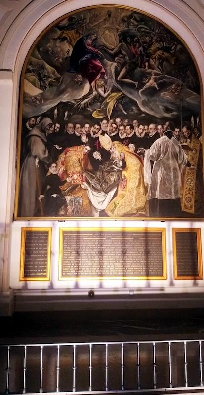 Obra de las principales obras del Greco representando el entierro del señor de Orgaz